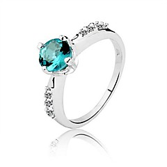 Genuine 925 Quality AAA Classic 1 Ct Elegant Jewel 925 Silver Sapphire Ring