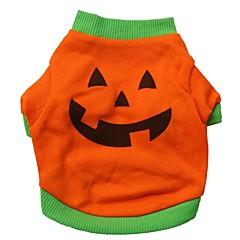 Gatos / Perros Disfraces / Camiseta / Accesorios Naranja Ropa para Perro Verano Caricaturas Cosplay / Halloween