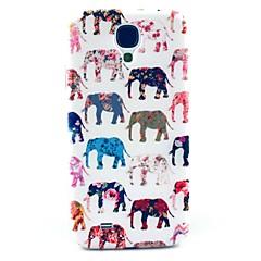 삼성 갤럭시 S4 i9500를위한 꽃 본 단단한 케이스 덮개를 가진 코끼리