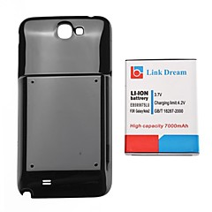 삼성 주 2 N7100에 대한 링크 꿈 7000mAh로 두껍게 휴대 전화 배터리 + 블랙 뒤 표지 (EB595675LU)