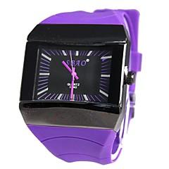 Sportowa męska Dial Rubber Band prostokątny Analog Quartz Wrist Watch (różne kolory)