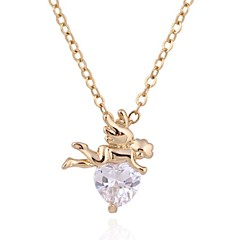 New Fashion Cupid's Heart 18K Gold Plated Shining Pendant D0614