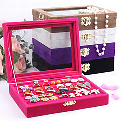 Classic Multifunctional Small Size Ring Earrings Buggy Bag Multicolor Flannelette Jewelry Boxes(1 Pc)(More Color)