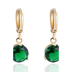 Women's New Arrival 18K Gold Plated Fashion Concise Hot Selling Round Zircon Earrings ER0461