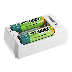 chargeur de batterie de PISEN ts-MC005 pour batterie aa / aaa avec au bouchon (2 piles AAA incluses)