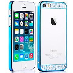Vírgula Cristal Series Galvanizados Transparente PC duro para o iPhone 5/5S (cores sortidas)