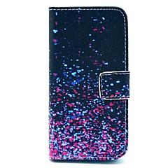 Na Etui iPhone 5 Portfel / Etui na karty / Z podpórką / Flip / Wzór Kılıf Futerał Kılıf Przejście kolorów Twarde Skóra PU iPhone SE/5s/5