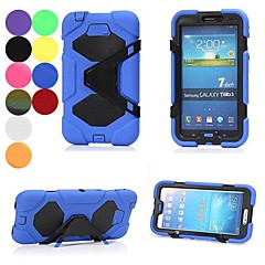 All-around Protective Encapsulated Weather Resistant Case with Clamp for Samsung Galaxy Tab 3 P3200 (Assorted Color)