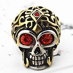Z&X®  Men's Fashion Skull Crystal Titanium Steel Ring