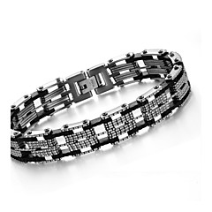 Men Between Fashion and Personality Titanium Silicone Steel Bracelet