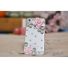 transparante camellia mode-diamanten ingelegde diamant Case voor iPhone 4/4s (diverse kleuren)