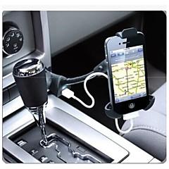 autotelefoon houder / enkele USB-poort / aansteker autolader 5v 1,5 telefoonhouder