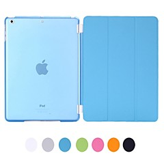 Natusun ™ Slim Smart Soft PU Læder Cover Hard gennemsigtigt plastik Shell med Sleep Beslag til Ipad luft