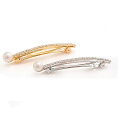 Pearl Diamond Barrettes