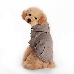 alta calidad ocasional del bolsillo del color puro con sudaderas con capucha para perros (varios tamaños, color)