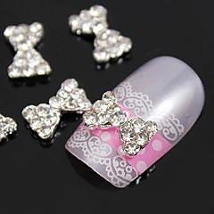 10szt bling diamentowa muszka stopu metalu 3d sztuki dekoracji paznokci