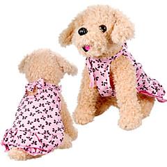 elegante søde bowkonts mønster kjole til kæledyr hunde (assorterede størrelser)