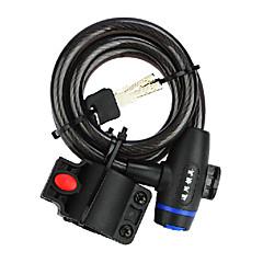 IFire de qualité en acier PVC + ABS noir Bike Lock vélos