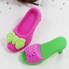 Cute Detachable  High-heeled Shoes And Boot Shaped Eraser (Random Color x 4 PCS)
