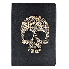 Floret Skull Pattern PU Leather Case for the iPad Air