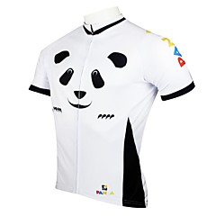 PaladinSport Men's Panda Spring and Summer Style 100% Polyester Short Sleeved Cycling Jersey