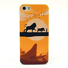 Animal Lion Cartoon Pattern Hard Case for iPhone 5/5S