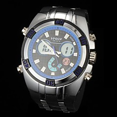 Men's Fashion Multi-Functional Analog-Digital Rubber Band Wrist Watch (Assorted Colors)