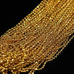 10Meters 3D Golden Plated Metal Round Ball Beads Line Chains Nail Art Decoration