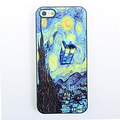 Starry Night Design Metal Hard Back Cover for iPhone 4/4S