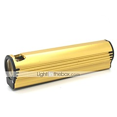 LT-XL884 Cigarrete encendedor 3 Modo 1xCree XML Q5 Mini Led linterna (500LM.Buil en Battery.Golden)