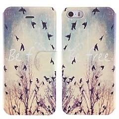 aves crepúsculo projetar pu caso de corpo inteiro com slot para cartão de iPhone 5 / 5s