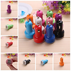 Solid Color Dual USB Car Charger for iPhone 6 iPhone 6 Plus and Other Electronics (Assorted Colors,5V 2A)