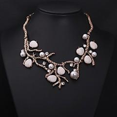 Women's Vintage Branches Jewels Pearl Diamond Necklace Imitation Diamond Birthstone