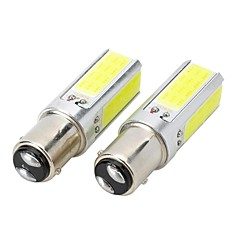Marsing 20W 7000K 1157 1500lm 4 COB LED White Car luz de freio / Foglight - (12V / 2 PCS)