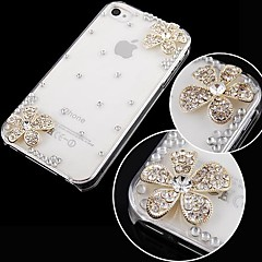 Flower with Diamond Back Case for iPhone 4/4S