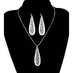Classic Small Drop Water Shape Jewelry Set(1 Set)