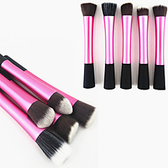 1KS Rose Nylon Hair Aluminium Handle Makeup tvářenka / nadace / Powder Brush (Random typ, 17x3x2cm)