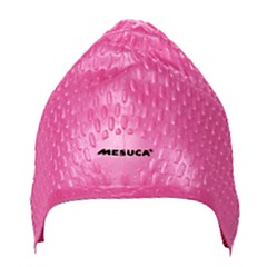 MESUCA® Adult Unisex Silicone Anti Water & Anti Wear Swim Cap Dark Purple Pink Light Blue
