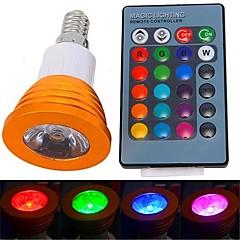 3W E14 LED-spotlys 1 Højeffekts-LED 180 lm RGB Fjernstyret AC 85-265 V