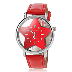 Women's Hollow Star Dial PU Band Quartz Wrist Watch (Assorted Colors)