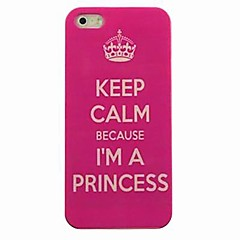 Crown Proverb Pattern Hard Case for iPhone4/4S