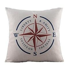 nawigacyjny kompas bawełna / płótno pokrywa poduszki dekoracyjne