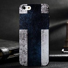3D Black Cross Painting Relievo PC Hard Case for iPhone 5/5S
