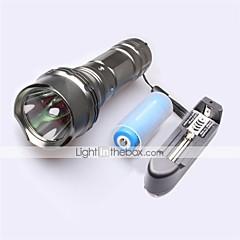 LT-   New Design  5 Modes 1xCree XML-L2 1*L2 Flashlight(1200LM. 1x18650  1*26650 gray)