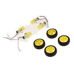 ST-4WD Smart Car Chassis 4WD Speed Car Magnetic Motor Single Layer For Arduino