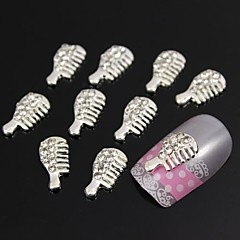 10pcs   Glitter Rhinestone Comb 3D DIY Alloy Accessories Nail Art Decoration