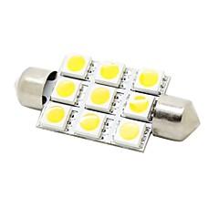 41mm 2w 9x5050 SMD-LED 180lm lämmin valkoinen valo köynnös kupoli käsittelyssä kartta rekisterikilven lamppu auton (DC 12V)