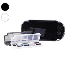 10 i 1 spel minneskorthållaren fall förvaringsbox för PSV PS Vita