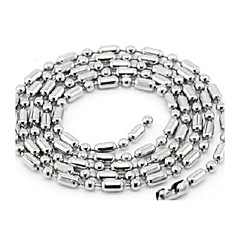 Men and Women General Slub Chain with Titanium Steel Chain Necklace