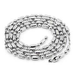 Smycken Choker-Halsband / Kedje Halsband Bröllop / Party / Dagligen / Casual Titanstål Dam Silver Wedding gåvor